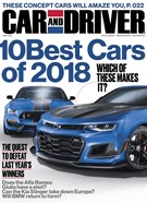 Car And Driver Magazine 1/1/2018