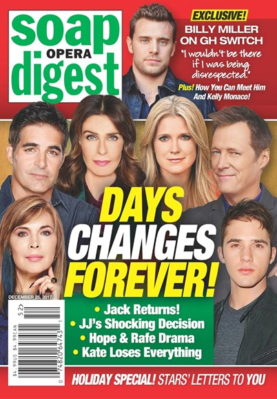 Soap Opera Digest Cover - 12/25/2017