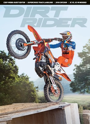 Dirt Rider Magazine | 1/1/2018 Cover