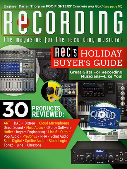 Recording Magazine Cover - 12/1/2017