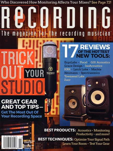 Recording Magazine Cover - 11/1/2017