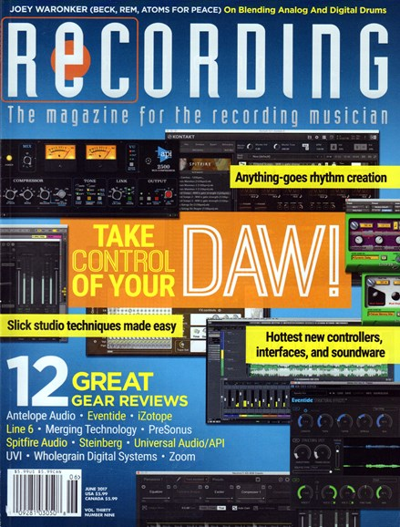 Recording Magazine Cover - 6/1/2017
