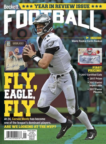 Beckett Football  Cover - 1/1/2018