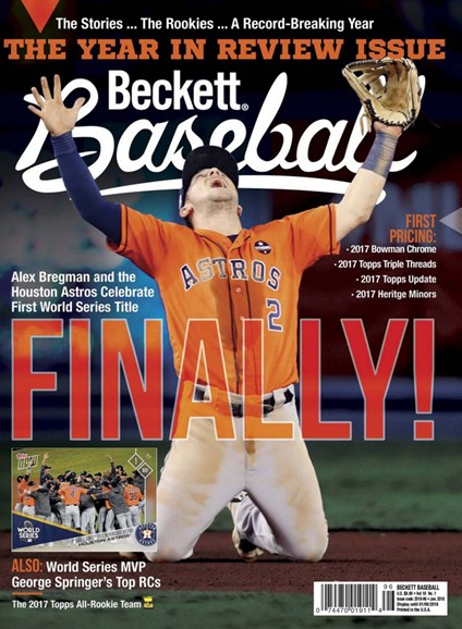 Beckett Baseball Cover - 1/1/2018