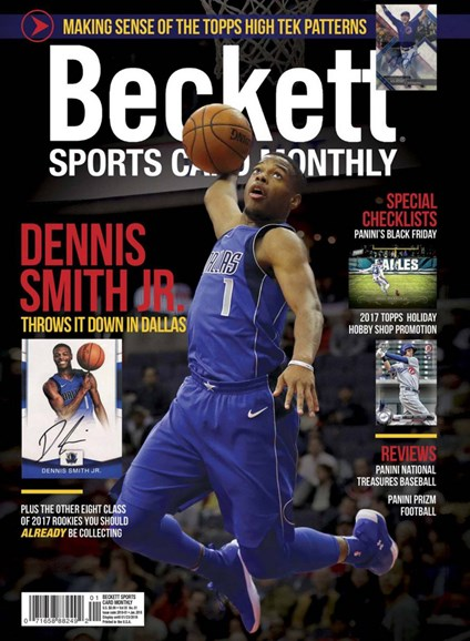 Beckett Sports Card Monthly Cover - 1/1/2018