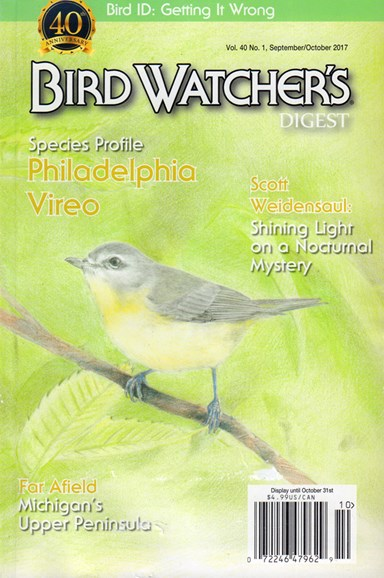 Bird Watcher's Digest Cover - 9/1/2017