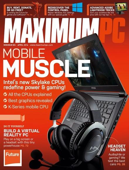 Maximum PC Cover - 4/1/2016