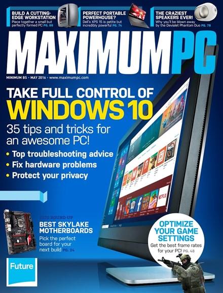 Maximum PC Cover - 5/1/2016