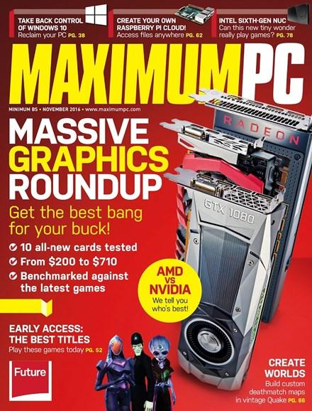 Maximum PC Cover - 11/1/2016