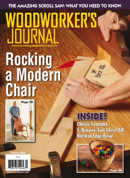 Woodworker's Journal Cover - 2/1/2018