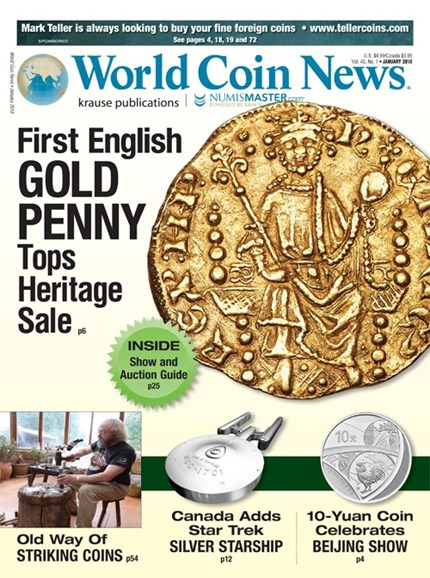 World Coin News Cover - 1/1/2018