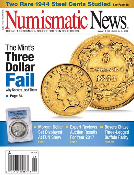Numismatic News Cover - 1/2/2018