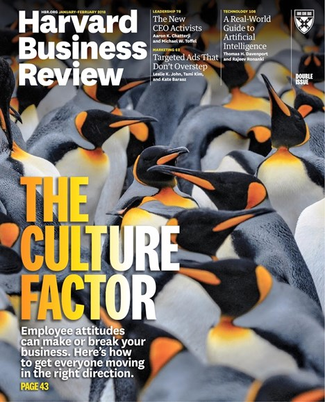Harvard Business Review Cover - 1/1/2018