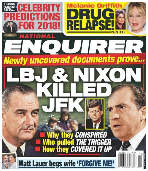 National Enquirer Cover - 1/1/2018