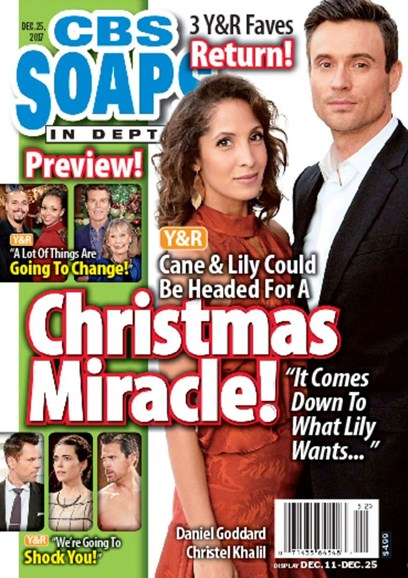 CBS Soaps In Depth Cover - 12/25/2017