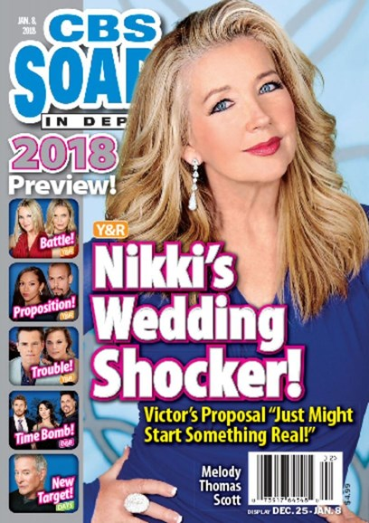 CBS Soaps In Depth Cover - 1/8/2018