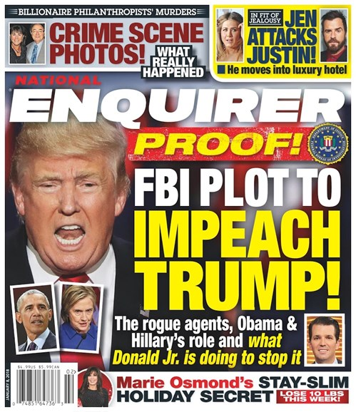 National Enquirer Cover - 1/8/2018