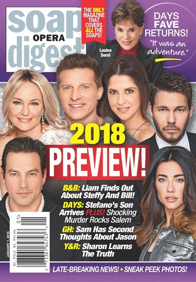Soap Opera Digest Cover - 1/1/2018