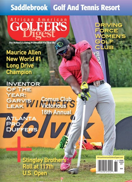 African Amercian Golfer's Digest Cover - 3/1/2017