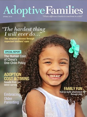 Adoptive Families Magazine | 4/1/2016 Cover