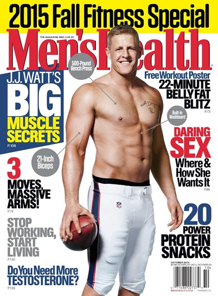 Men's Health Cover - 10/1/2015
