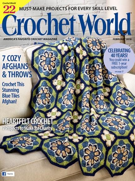 Crochet World Cover - 2/1/2018