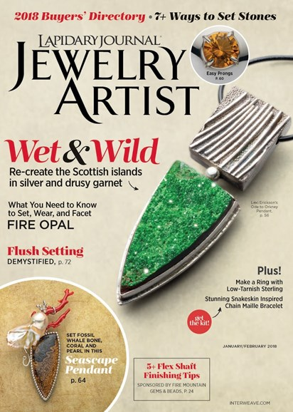 Lapidary Journal Jewelry Artist Cover - 1/1/2018