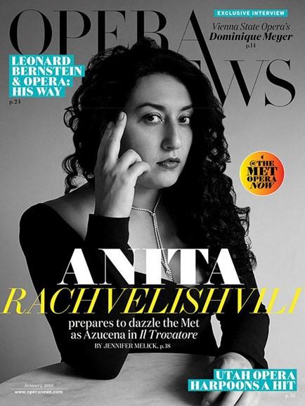 Opera News Cover - 1/1/2018