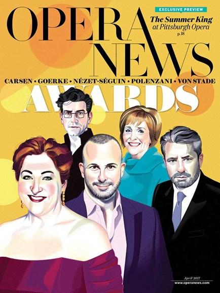 Opera News Cover - 4/1/2017