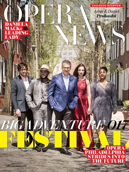 Opera News Cover - 8/1/2017