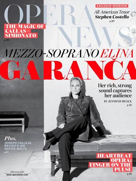 Opera News Cover - 2/1/2017