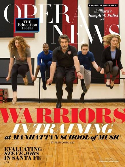 Opera News Cover - 7/1/2017