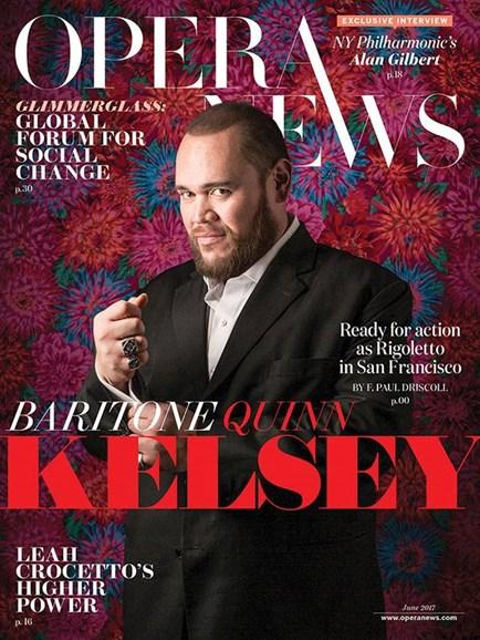 Opera News Cover - 6/1/2017