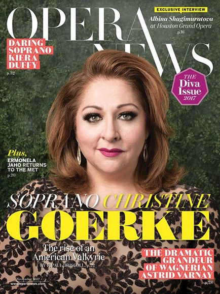 Opera News Cover - 11/1/2017