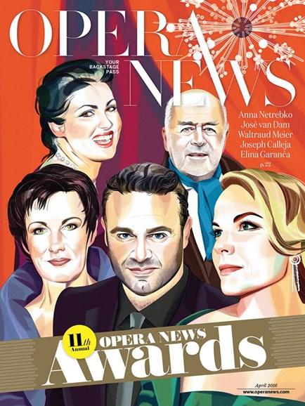 Opera News Cover - 4/1/2016