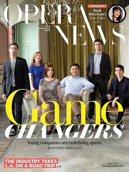 Opera News Cover - 8/1/2016