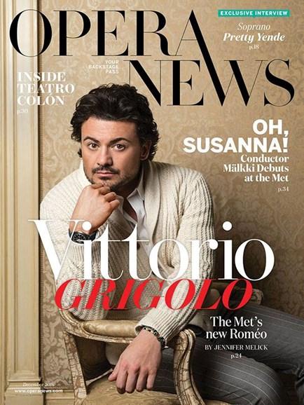 Opera News Cover - 12/1/2016