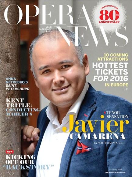 Opera News Cover - 1/1/2016