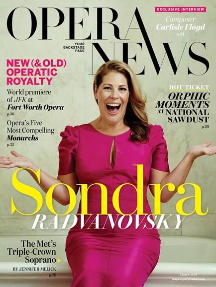 Opera News Cover - 3/1/2016