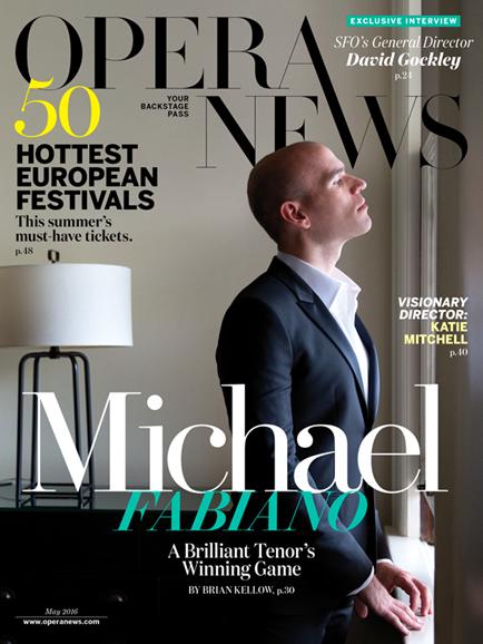 Opera News Cover - 5/1/2016