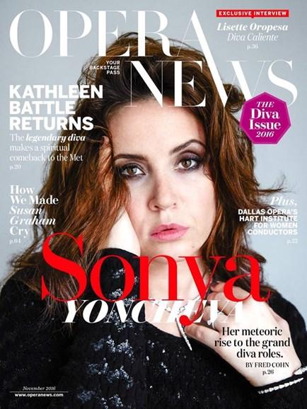Opera News Cover - 11/1/2016