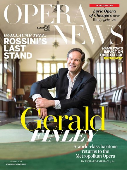 Opera News Cover - 10/1/2016