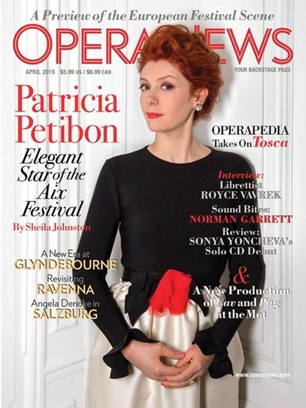 Opera News Cover - 4/1/2015