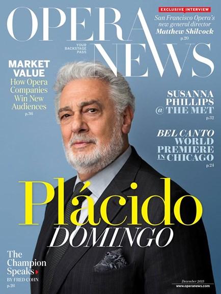Opera News Cover - 12/1/2015