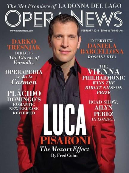 Opera News Cover - 2/1/2015