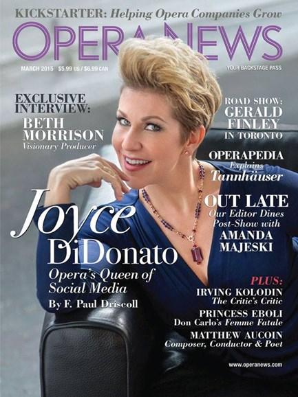 Opera News Cover - 3/1/2015