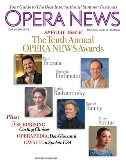 Opera News Cover - 5/1/2015