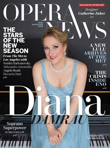 Opera News Cover - 9/1/2015