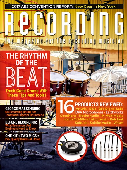 Recording Magazine Cover - 1/1/2018