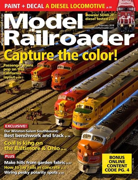 Model Railroader Cover - 2/1/2018